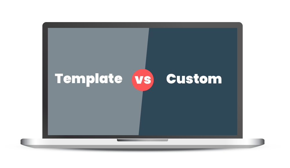 template vs custom web design affects website cost